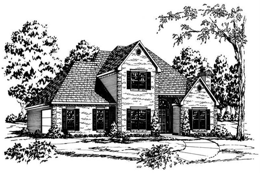 Georgian House Plans front elevation.