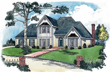 4-Bedroom, 3174 Sq Ft European House Plan - 164-1131 - Front Exterior