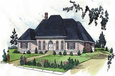 4-Bedroom, 3128 Sq Ft European House Plan - 164-1132 - Front Exterior