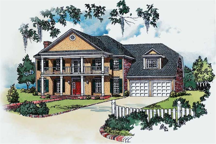 Southern Home Plans Front Elevation.