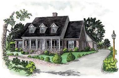 5-Bedroom, 2858 Sq Ft Country House Plan - 164-1134 - Front Exterior