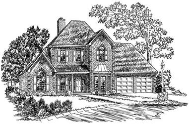 4-Bedroom, 2226 Sq Ft Georgian House Plan - 164-1137 - Front Exterior