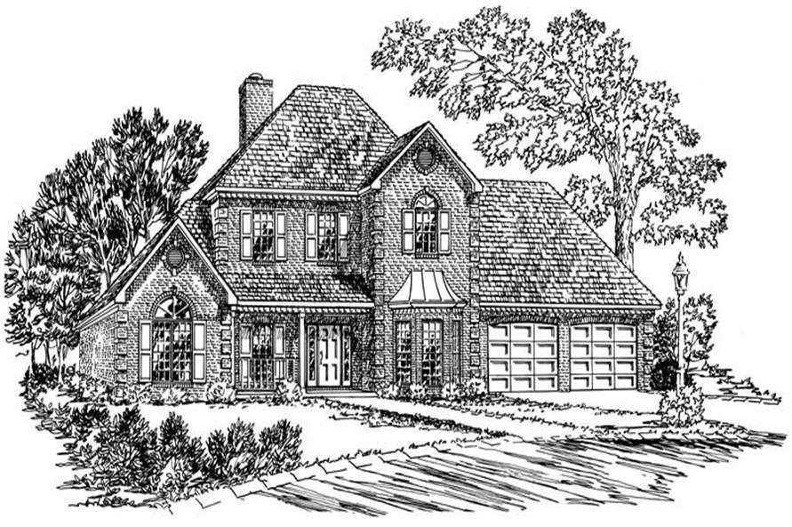 4-Bedroom, 2226 Sq Ft Georgian House Plan - 164-1137 - Front Exterior