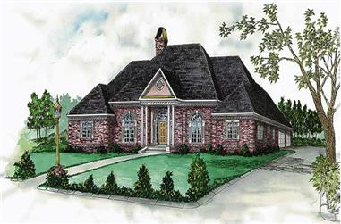 4-Bedroom, 2387 Sq Ft European House Plan - 164-1138 - Front Exterior