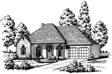 4-Bedroom, 2453 Sq Ft Country House Plan - 164-1140 - Front Exterior