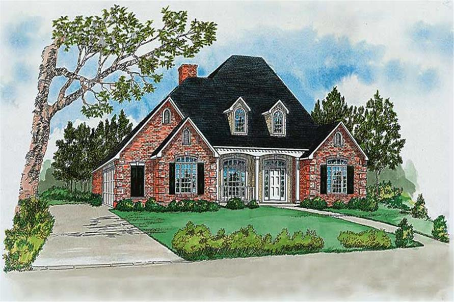 4-Bedroom, 2490 Sq Ft Cape Cod House Plan - 164-1141 - Front Exterior