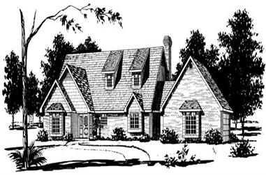 4-Bedroom, 2414 Sq Ft Country House Plan - 164-1143 - Front Exterior