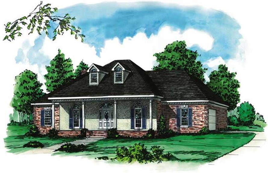 4-Bedroom, 2551 Sq Ft Country House Plan - 164-1145 - Front Exterior