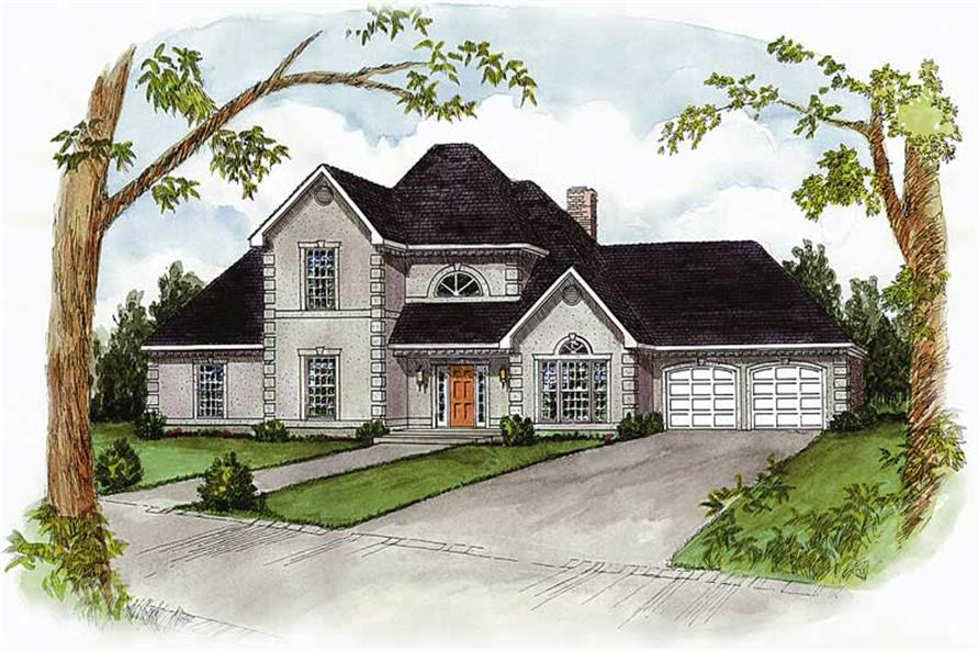4-Bedroom, 2539 Sq Ft Cape Cod House Plan - 164-1146 - Front Exterior