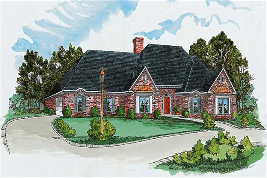 4-Bedroom, 2735 Sq Ft Country House Plan - 164-1147 - Front Exterior