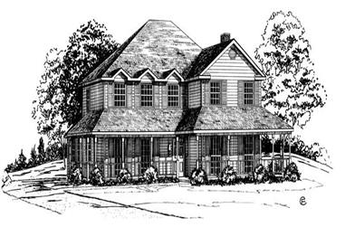 4-Bedroom, 2651 Sq Ft Country House Plan - 164-1148 - Front Exterior