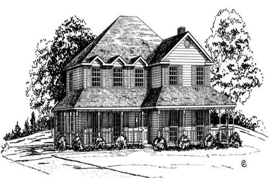 Main image for Georgian house plans # 1875