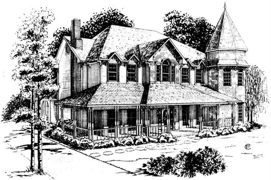 4-Bedroom, 2683 Sq Ft European House Plan - 164-1150 - Front Exterior