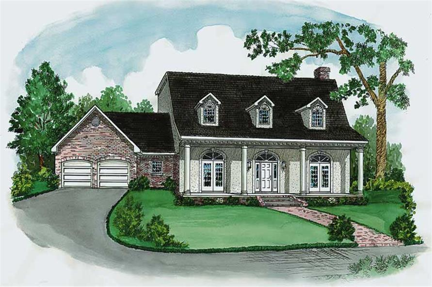 4-Bedroom, 2652 Sq Ft Cape Cod House Plan - 164-1154 - Front Exterior