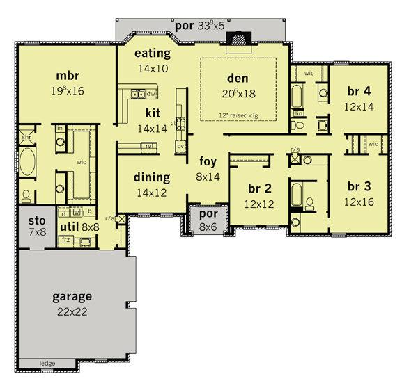 164-1156 house plan floor plan
