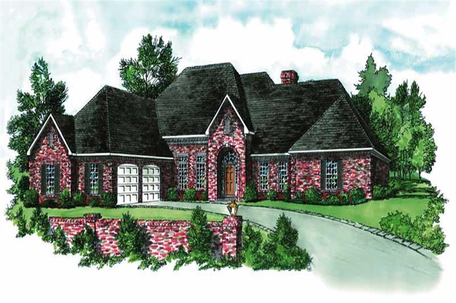 4-Bedroom, 2697 Sq Ft Ranch House Plan - 164-1156 - Front Exterior
