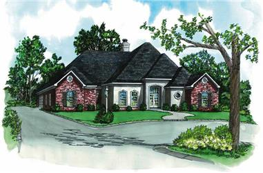 4-Bedroom, 2682 Sq Ft French House Plan - 164-1157 - Front Exterior