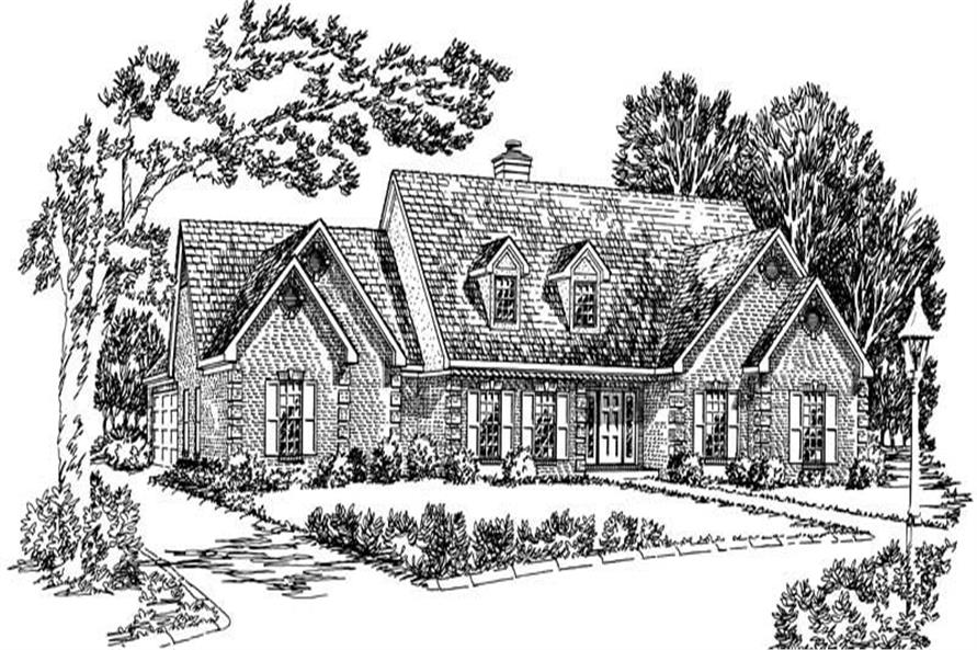 3-Bedroom, 2681 Sq Ft Country House Plan - 164-1158 - Front Exterior