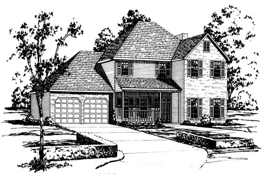 4-Bedroom, 2736 Sq Ft Country House Plan - 164-1161 - Front Exterior