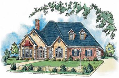 4-Bedroom, 2569 Sq Ft Country House Plan - 164-1162 - Front Exterior