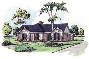 3-Bedroom, 1878 Sq Ft Country House Plan - 164-1164 - Front Exterior