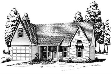 3-Bedroom, 1661 Sq Ft Country House Plan - 164-1165 - Front Exterior