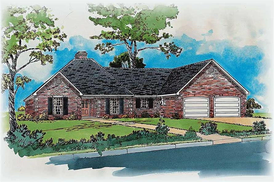 3-Bedroom, 1680 Sq Ft Country House Plan - 164-1166 - Front Exterior