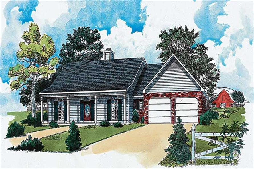 Main color image for traditional houseplan # 1789
