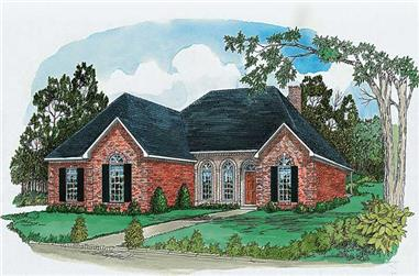 3-Bedroom, 1668 Sq Ft Country House Plan - 164-1169 - Front Exterior