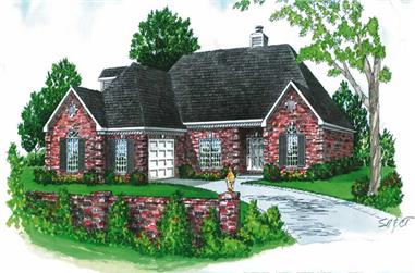 3-Bedroom, 1692 Sq Ft Country House Plan - 164-1173 - Front Exterior