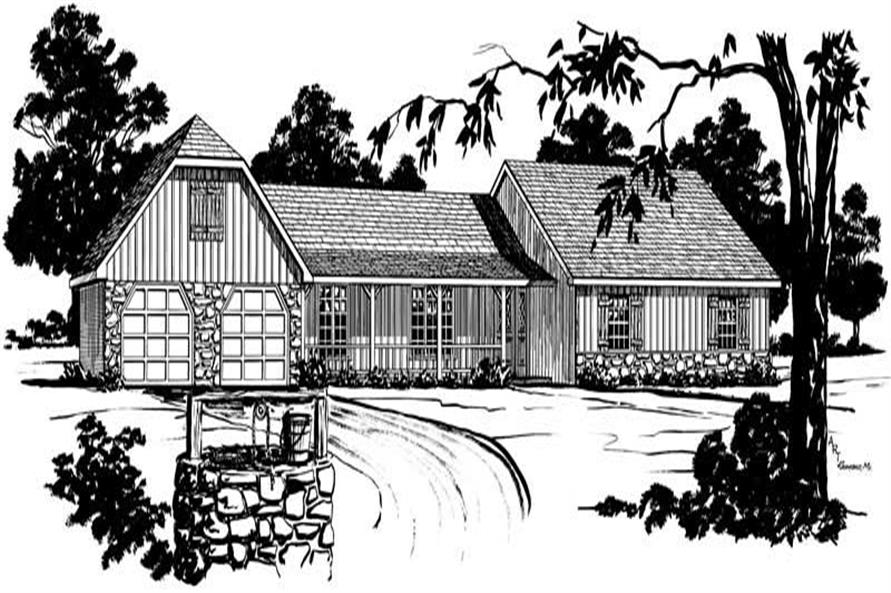 Ranch Home Plans front elevation.