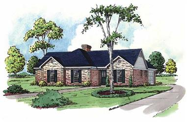 3-Bedroom, 1878 Sq Ft Country House Plan - 164-1179 - Front Exterior