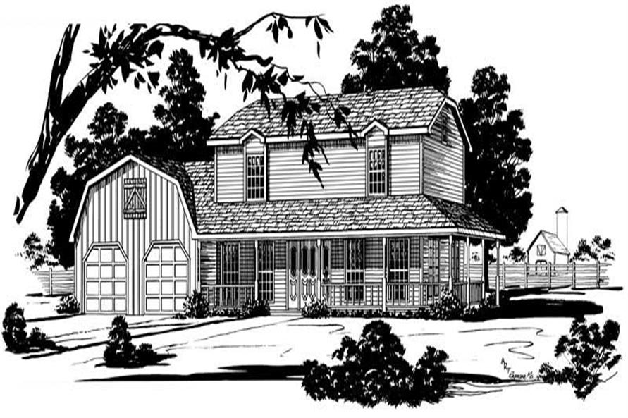 Main image for farmhouse plans # 1806