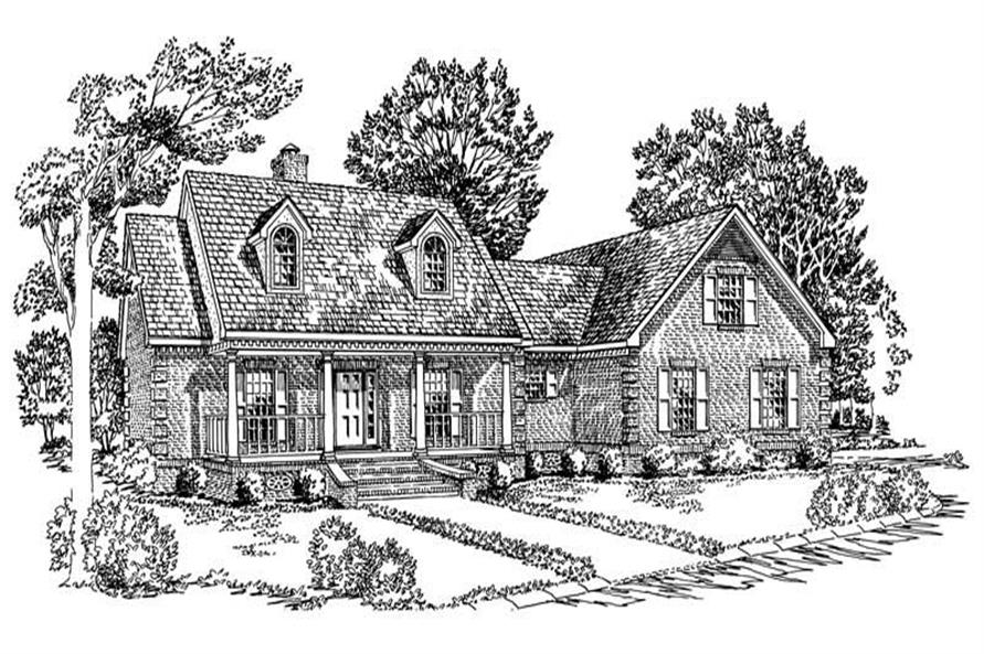3-Bedroom, 1785 Sq Ft Country House Plan - 164-1181 - Front Exterior