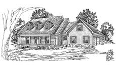 Country Homeplans front elevation.