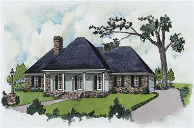 3-Bedroom, 1754 Sq Ft Country House Plan - 164-1183 - Front Exterior