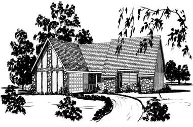4-Bedroom, 1797 Sq Ft Contemporary House Plan - 164-1184 - Front Exterior