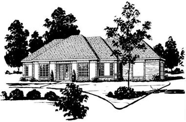 3-Bedroom, 1754 Sq Ft Country House Plan - 164-1187 - Front Exterior