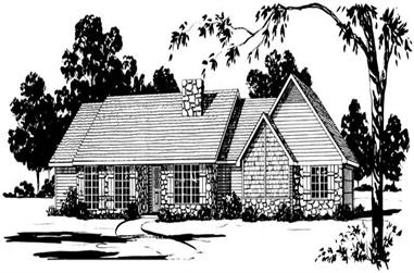 3-Bedroom, 1687 Sq Ft Country House Plan - 164-1192 - Front Exterior