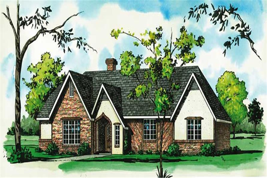 3-Bedroom, 1494 Sq Ft Country House Plan - 164-1194 - Front Exterior