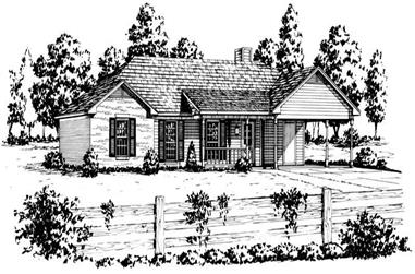 3-Bedroom, 1203 Sq Ft Country House Plan - 164-1196 - Front Exterior
