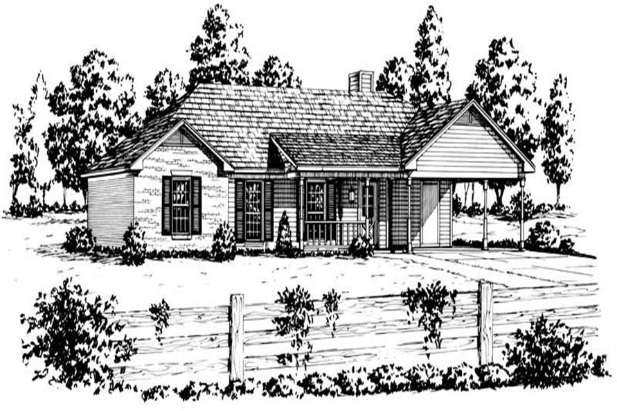 Main image for Ranch home plan # 1751