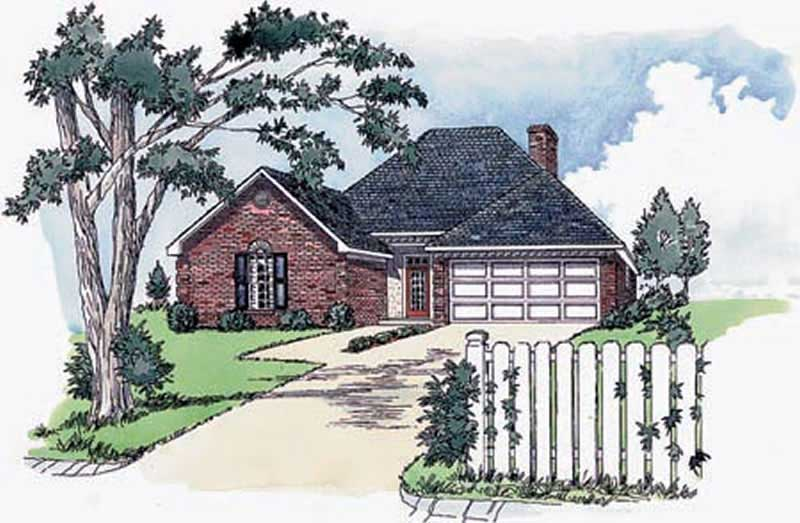 Small european house plans home design rg1308 1760 for Small european house plans