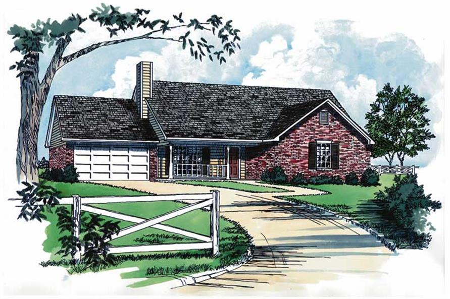 Main image for Ranch houseplans # 1761