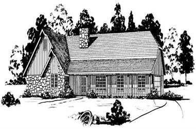 3-Bedroom, 1592 Sq Ft Country House Plan - 164-1209 - Front Exterior