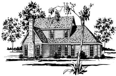 4-Bedroom, 2166 Sq Ft Country House Plan - 164-1210 - Front Exterior