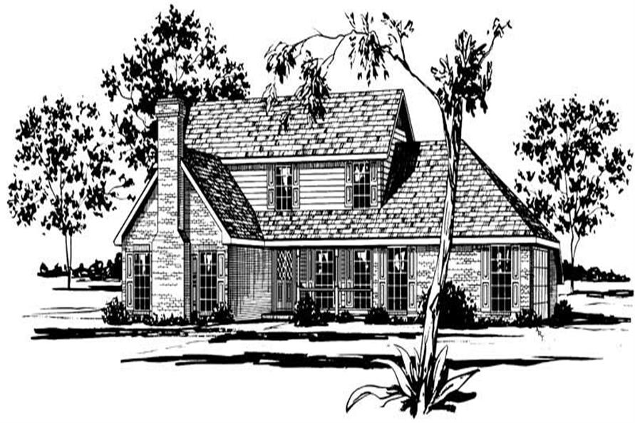 Color Rendering for Country house plan # 1781