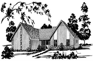 3-Bedroom, 1654 Sq Ft Contemporary House Plan - 164-1211 - Front Exterior