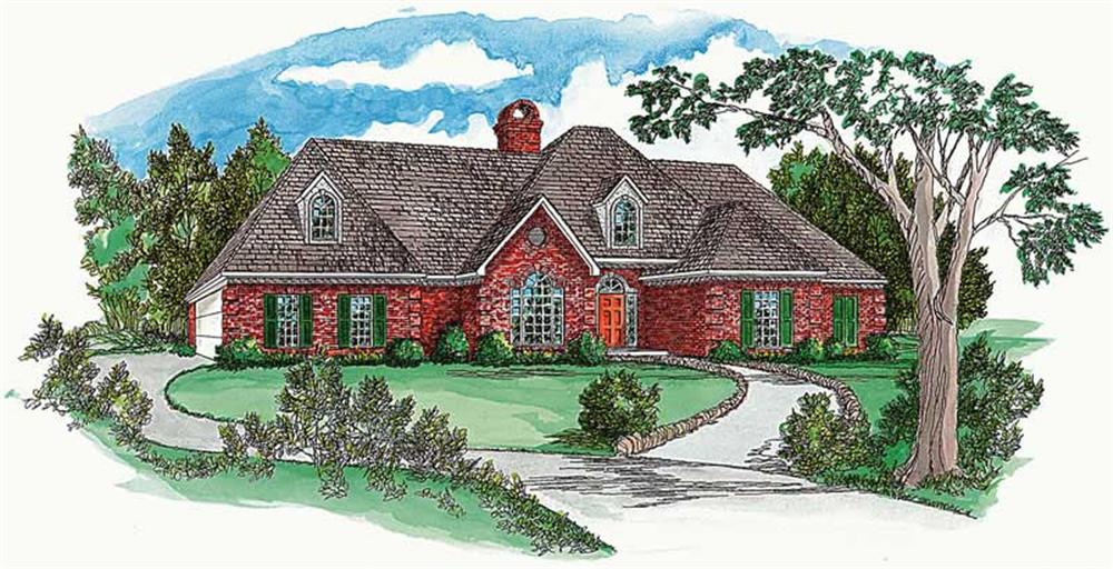French Houseplans Front Elevation.