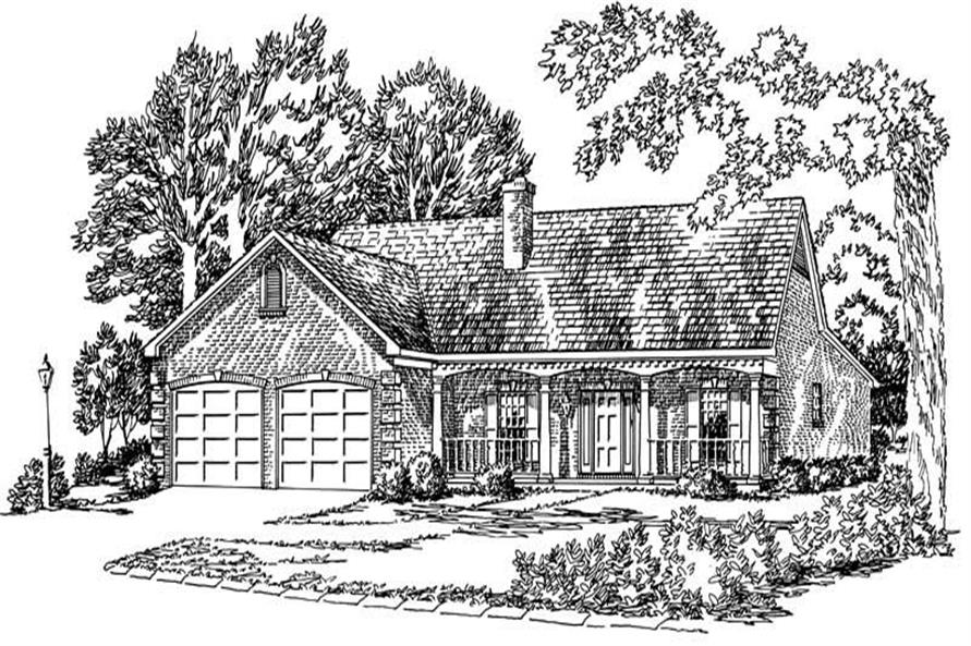 Main image for farmhouse plans # 1773